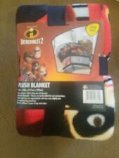 "Disney Pixar The Incredibles Racing 62"" x 90"" Plush Twin Blanket"