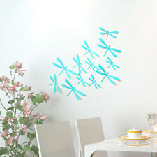 12pcs 3D DIY Decor Dragonfly Home Classroom Wall Sticker Art Decal  #Light Blue