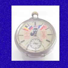 WW1 Chorley Trench Military Silver Lord Kitchener Recruitment Pocket Watch 1914