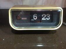 Vintage Mid Century Modern Copal Flip Clock w/ Orange Light Made Japan Model:225