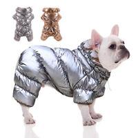 Waterproof Dog Jumpsuit Winter Coat Jacket Fleece Padded Snowsuit for Chihuahua