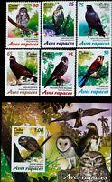 Caribbean -Birds of prey-, sets 6st.+1 S/Sh.,2017,MNH**.CU 148A