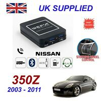 For Nissan 350Z Music Streaming Bluetooth Telephone Charger SD Dual AUX CDModule