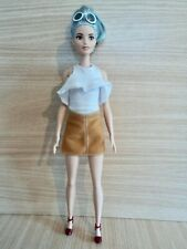 Barbie Tall Fashionistas Doll . Blue Beauty with Glasses. No 69 in the Series