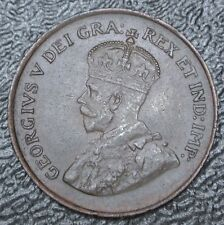 OLD CANADIAN COIN 1920 ONE CENT - George V - Nice