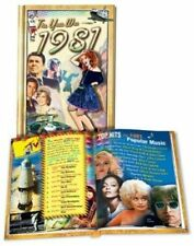 The Year Was 1981 - Hardcover Trivia Mini-Book by Flickback 1981 Great Memories