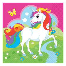 20 X Unicornio Servilletas Fiesta Vajilla Niña Mágico Cumpleaños