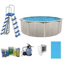 """Phoenix 24' x 52"""" Steel Frame Above Ground Swimming Pool with Pump & Ladder Kit"""