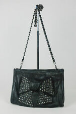 MIMCO studded leather front bow chain strap evening clutch bag