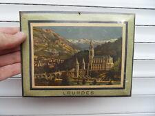 Photo chromo panoramique type glacoide art deco decor christianisme vue LOURDES