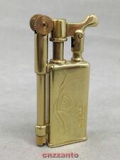 Golden Collectable Vintage style Solid brass oil cigarette lighter Z033