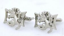 SCOTTISH RAMPANT LION DESIGN CUFFLINKS NEW & BOXED CHROME FINISH FOR KILTS BNIB