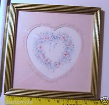 """Home Interiors Homco Heart Picture 10"""" x 10"""""""