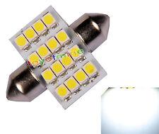 1X blanco de la bóveda 16 LED 3528 SMD 31mm Light Bulb DC 12V Nuevo