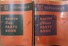 1953 Oldsmobile Master Body and Chassis Parts Book Catalog Set of 2 30's thru 53