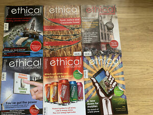 Ethical Consumer Magazines x 6 . Jan 2013 To Dec 2013.