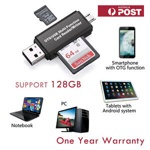 TF SD Card Reader Micro USB OTG to USB 2.0 Adapter for PC Laptops Tablets Mobile