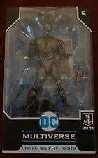 JL DC Multiverse Cyborg with Face Shield Walmart Exclusive action figure NIB