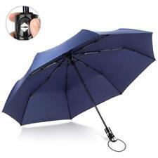 Fnova Windproof Travel Umbrella Golf Umbrella Auto Open Close Navy Blue Umbrella