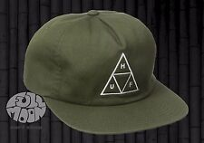 New HUF Triangle Olive Unstructured Mens Snapback Cap Hat