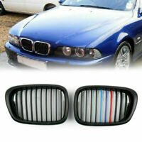Front Fence Grill Grille Matt Black M Color Mesh For 2001-04 BMW 5-Series E39