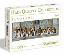 Clementoni DOGS BEAGLES 1000 pieces Jigsaw PANORAMA PUZZLE Cute Beagle Puppies