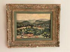 Frank Moratz Oil Painting Barn Door Hills, Granby CT Listed