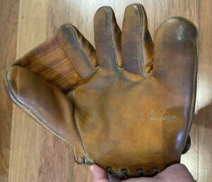1940-1950s Nokona, J110, Chris Van Cuyk, Split Finger, Pro Model, Baseball Glove