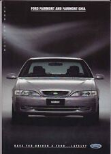 1996 FORD EF FAIRMONT & FAIRMONT GHIA Prestige Brochure & Spec Sheet FALCON