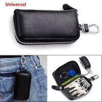 Wonderful Leather Car Remote Key Holder Home Key Chain Organizer Zipper Case 1X