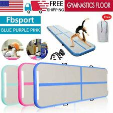 Air Mat Track Floor Inflatable Gymnastics Tumbling Mat GYM w/ Pump USA