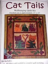 "Quilt Kit Cat Tails 14/"" x 42/"" Cats Orange Yellow Table Runner Kit M409.18"