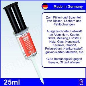 58,40€/100ml Liqui Moly Flüssigmetall 25ml Flüssig Metall 2K Epoxy Kleber 6193