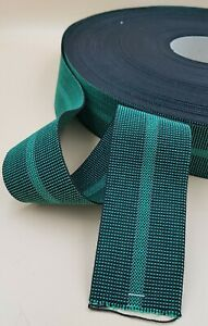 Green 60MM Wide Elastic Webbing Chair Seat Settee Furniture Upholstery Supply