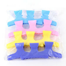 12Pcs Butterfly Plastic Hair Claw Salon Clip Clamps Hairdressers Best