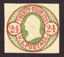 US U44 24c Envelope Cut Square Mint SCV $210