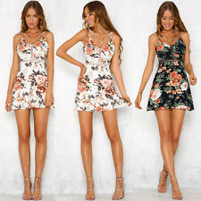 De Moda Para Dama Verano Boho Floral Vestido Playa cóctel noche corto mini