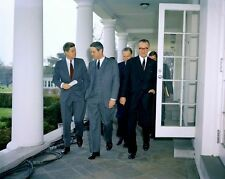 PRESIDENT JOHN F. KENNEDY AND OTHERS AFTER BILL SIGNING - 8X10 PHOTO (AZ119)