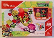 Mega Construx Teenage Mutant Ninja Turtles Turtle Jet Blaster 77 Pcs New MISB