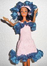 Vêtements pour Barbie Robe Rose Et Ruban Capeline Lavable Résistant artisanal
