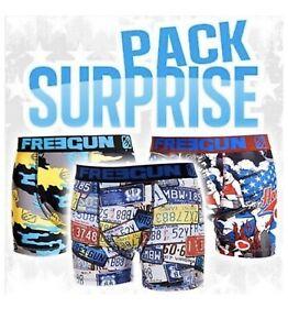 !!! Boxer Freegun Homme - Lot de 3 - Pack Surprise !!! Toutes les tailles !!!