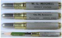 RESTORED Vintage Bullet Pencil - Mitchell Service Station, Akron, Iowa  BS-1308