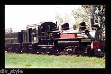 West Side Lumber 3-truck Shay steam locomotive #9 railroad train postcard