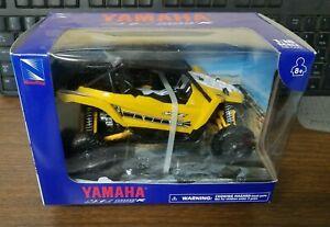 New Ray Yamaha Yellow YXZ 1000R UTV 1:18 Die-Cast Replicas w/ Plastic 57813B