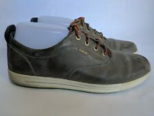 Ecco Casual Shoes Mens 42 Euro sz 8 US Green Leather Shoes Lace Up Comfort