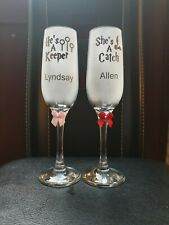 Personalized sandblasted. His and hers. Harry Potter. Champagne glasses gifts