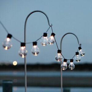 Solar Lichterkette Glühbirnen Außen Garten String Licht Birnen Party Dekoration