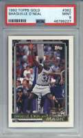 1992-93 Topps Gold Shaquille O'Neal #362 ROOKIE Orlando Magic PSA 9