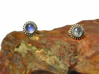 MOONSTONE   Sterling  Silver  925  Gemstone  Earrings  / STUDS  -  5 mm