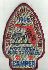 Sand Hill Scout Reservation Camper Embroidered Patch West Central FL Council